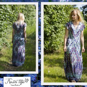 Midagi endale - kuna ma ei raatsinud ilusat kangamustrit eriti lõigata, siis tuli teha võimalikult lihtne kleit :)